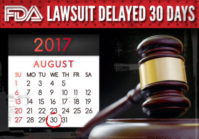 FDA Lawsuit Delayed