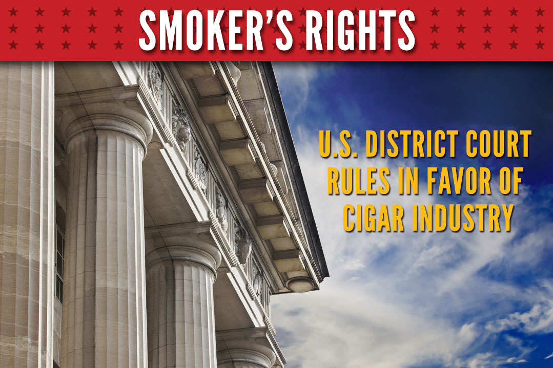 district cout rules in cigar industry favor